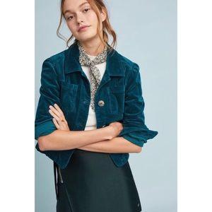 Turquoise Corduroy Cropped Jacket NWT M